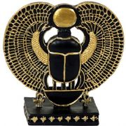 Small Scarab Beetle Ancient Egyptian Style Figurine
